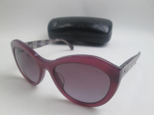 Chanel 5294 Signature Butterfly Lace Tweed Cateye CC Oversized Cat Fuchsia