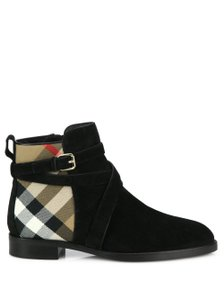 Burberry Suede Rockstud Studded Black Boots