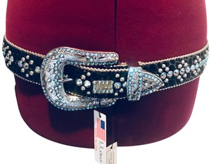 23d3fd45d607 B.B. Simon B.B. Simon Swarovski Crystal Belt New w tags  Rare  sz Large