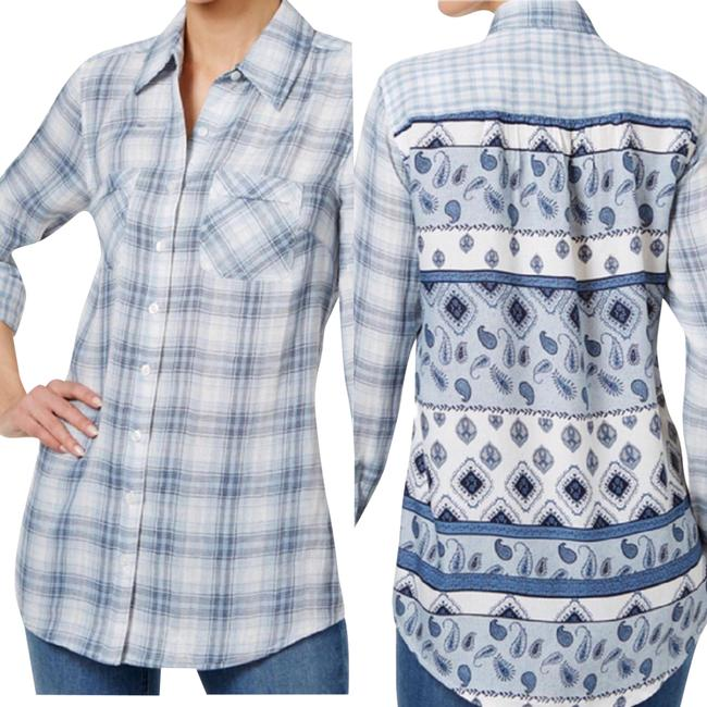 Preload https://img-static.tradesy.com/item/22648683/style-and-co-blue-plaidpaisley-button-down-top-size-16-xl-plus-0x-0-3-650-650.jpg