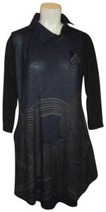 Reborn short dress navy Kn It 3/4 Sleeve on Tradesy