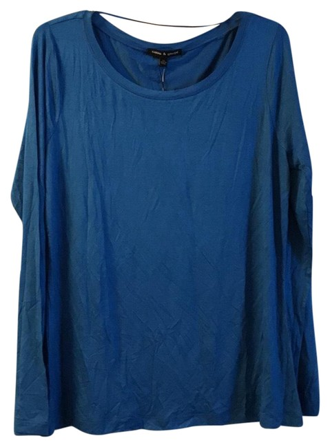 Preload https://img-static.tradesy.com/item/22648747/cable-and-gauge-blue-long-sleeve-blouse-size-16-xl-plus-0x-0-1-650-650.jpg