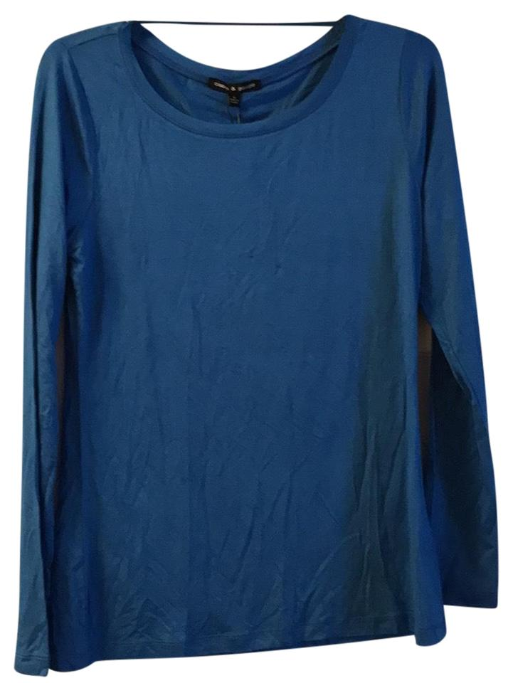 Cable & Gauge Blue Long Sleeve Blouse Size 8 (M) - Tradesy