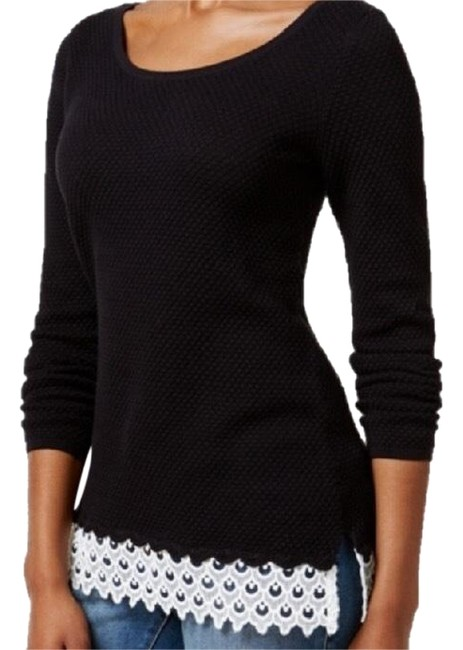 Preload https://img-static.tradesy.com/item/22648752/charter-club-textured-knit-black-sweater-0-3-650-650.jpg