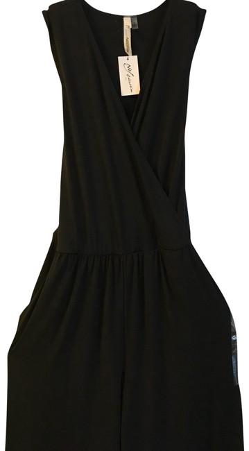 Preload https://img-static.tradesy.com/item/22648831/ny-collection-black-belted-long-romperjumpsuit-size-16-xl-plus-0x-0-1-650-650.jpg