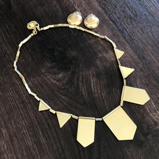 House of Harlow 1960 5 Station Necklace and Sunburst Earrings