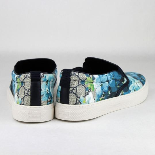 Gucci Blue Men's Bloom Print Flower Slip On Sneakers 6g/Us 7 407362 8471 Shoes