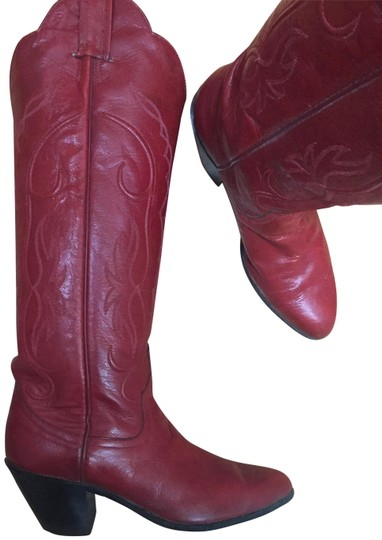 Preload https://img-static.tradesy.com/item/22649090/fire-engine-red-stitched-women-s-bootsbooties-size-us-5-regular-m-b-0-2-540-540.jpg