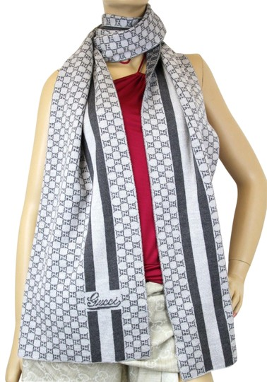Preload https://img-static.tradesy.com/item/22649138/gucci-gray-dark-gray-new-two-tone-wool-gg-wscript-design-more-varieties-347972-1762-scarfwrap-0-1-540-540.jpg