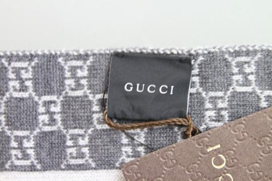 Gucci NEW Two Tone Wool GG Scarf w/Script Design More Varieties 347972 1762