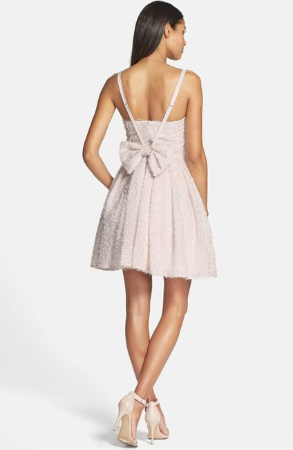 French Connection Glitter Whisper Bow Fit & Flare Dress