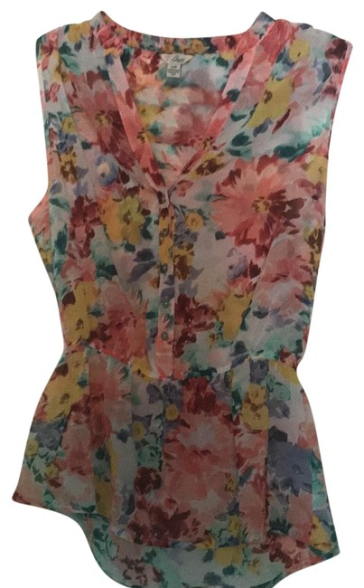Preload https://img-static.tradesy.com/item/22649218/guess-multi-colored-floral-blouse-size-6-s-0-1-650-650.jpg