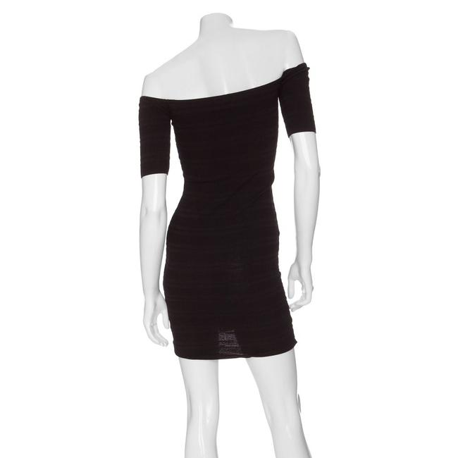 Torn by Ronny Kobo Bodycon Stretchy Shoulder Mini Party Dress