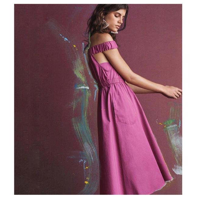 Preload https://img-static.tradesy.com/item/22649313/anthropologie-pink-new-with-tags-mona-off-the-shoulder-mid-length-cocktail-dress-size-8-m-0-1-650-650.jpg