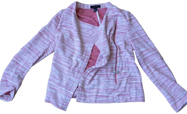 Preload https://img-static.tradesy.com/item/22649323/pink-coral-open-knit-drapped-zip-up-cardigan-size-6-s-0-1-650-650.jpg