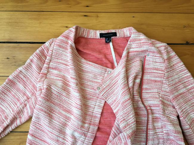 Atmosphere Coral Open Zip Up Draped Workwear Cardigan