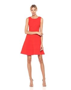 Tommy Hilfiger short dress CHERRY Scuba Creper Sleeveless on Tradesy