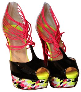 Christian Louboutin Stiletto Hot Pink Sexy Sky High multicolored Platforms