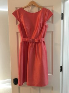 Alfred Sung Cap Sleeve Pink Bow New Dress
