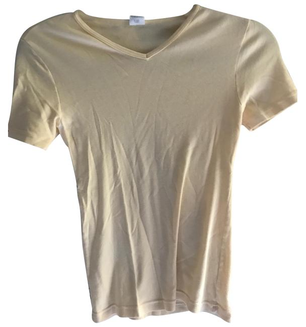 Preload https://img-static.tradesy.com/item/22649875/calvin-klein-vintage-pale-yellow-tee-shirt-size-8-m-0-1-650-650.jpg