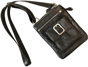 Cole Haan Leather Buckle Cross Body Bag