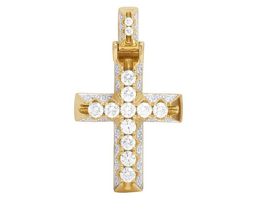 Preload https://img-static.tradesy.com/item/22649908/jewelry-unlimited-10k-yellow-gold-pyramid-prong-diamond-cross-pendant-145ct-12-charm-0-0-540-540.jpg