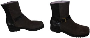 Taryn Rose Ankle Suede Side Zipper brown Boots