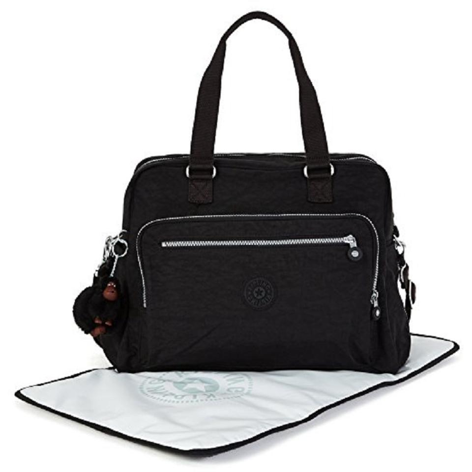 Kipling Black Nylon Diaper Bag Tradesy
