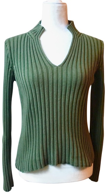 Preload https://img-static.tradesy.com/item/22650094/jcrew-green-forest-ribbed-split-neck-small-sweaterpullover-size-4-s-0-1-650-650.jpg