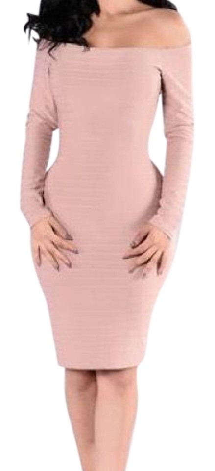 fc8a026f012f8 Blush Pink Just The Two Of Short Night Out Dress Size 8 (M) - Tradesy