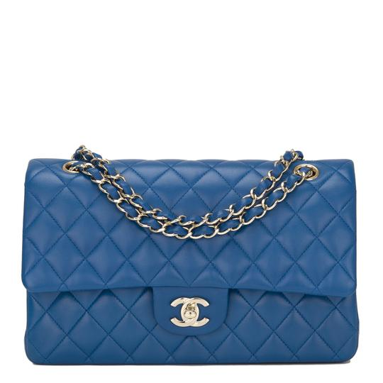 Preload https://item2.tradesy.com/images/chanel-classic-flap-quilted-medium-classic-double-blue-lambskin-leather-shoulder-bag-22650256-0-0.jpg?width=440&height=440