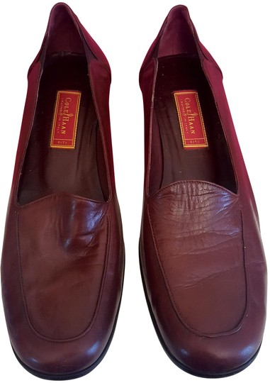 Cole Haan Leather Loafers 10.5 Aa Slip On mohogany Flats
