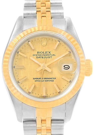 Preload https://img-static.tradesy.com/item/22650410/rolex-champagne-datejust-steel-yellow-gold-linen-dial-ladies-69173-watch-0-1-540-540.jpg