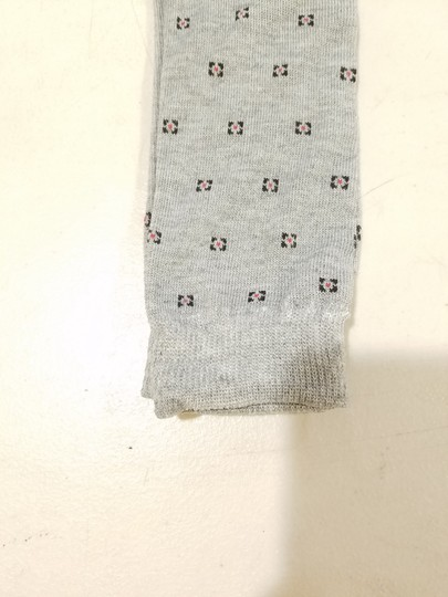 Gray Men Socks Classic Dressy Size S Fits 7-9 Ankle High Square Design Men's Jewelry/Accessory