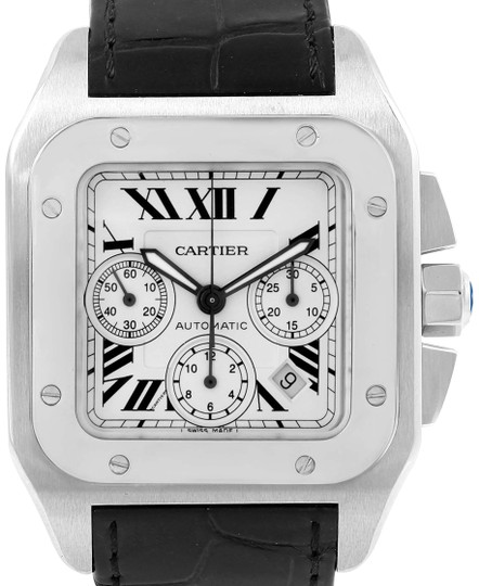 Preload https://img-static.tradesy.com/item/22650454/cartier-silver-santos-100-x-large-dial-chronograph-w20090x8-watch-0-1-540-540.jpg