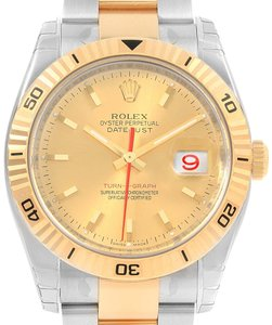 Rolex Rolex Datejust Turnograph Steel Yellow Gold Mens Watch 116263 Unworn