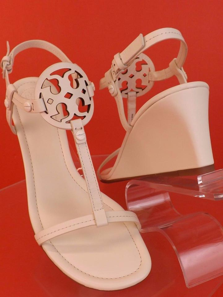 98eecfc490f Tory Burch Bleach T Miller Leather Strap Reva Wedge Brazil Sandals ...