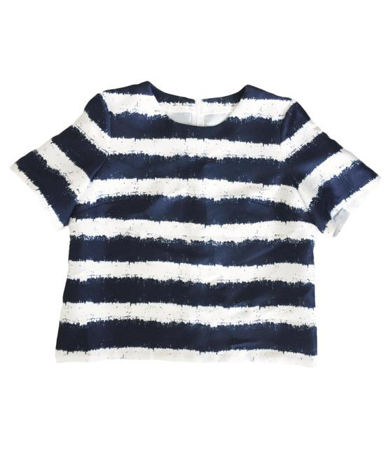 Preload https://img-static.tradesy.com/item/22650507/navywhite-striped-sateen-blouse-size-10-m-0-0-650-650.jpg