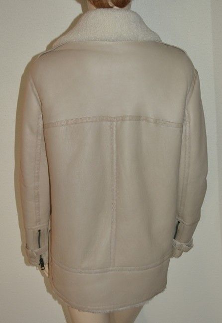 Burberry Women's Shearling Natural White Leather Jacket