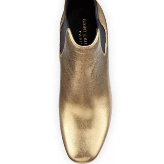 Saint Laurent Gold Boots