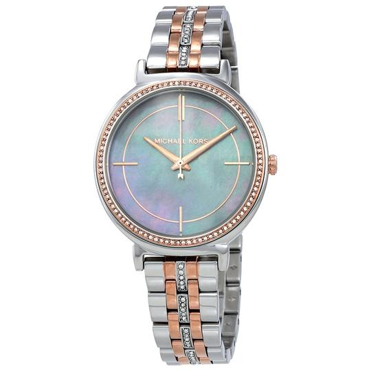 Preload https://img-static.tradesy.com/item/22650626/michael-kors-silver-and-rose-gold-women-s-mk3642-watch-0-0-540-540.jpg
