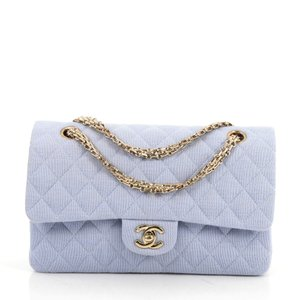 6bcdfdf0f15a Added to Shopping Bag. Chanel Jersey Shoulder Bag. Chanel 2.55 Reissue  Classic Flap Vintage Chain Double Quilted Medium Light Blue ...