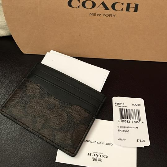 Coach coach credit card with tag gift box