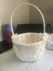 Ivory Never Used Flower Girl Basket