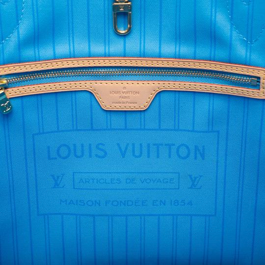 Louis Vuitton Neverfull Mm Monogram Tote in Blue