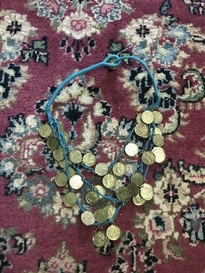 A Dodsons Gold and Turquoise Statement necklace