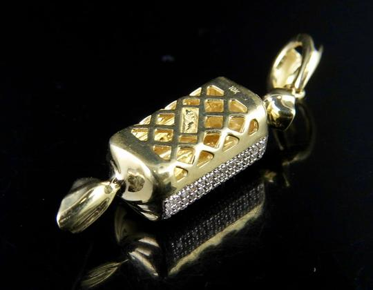 Jewelry Unlimited Mens 10K Yellow Gold Jolly Rancher Candy Real Diamond Charm Pendant