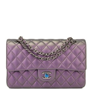 043f570596544e Added to Shopping Bag. Chanel Shoulder Bag. Chanel Flap Mermaid Quilted  Medium Classic Doubl Iridescent Purple Lambskin Leather ...