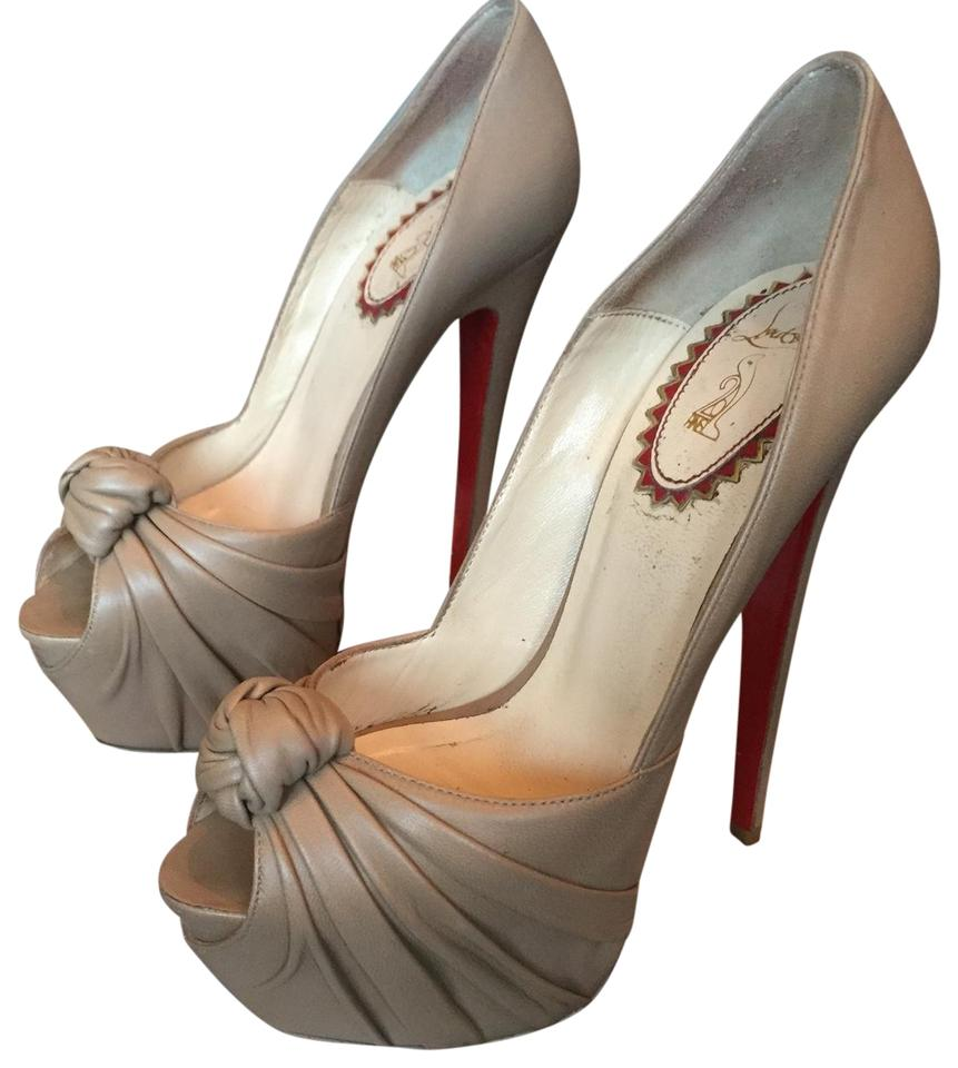 Christian Nude Louboutin Nude Christian Lady Gres 160 Nappa Platforms 36dec8