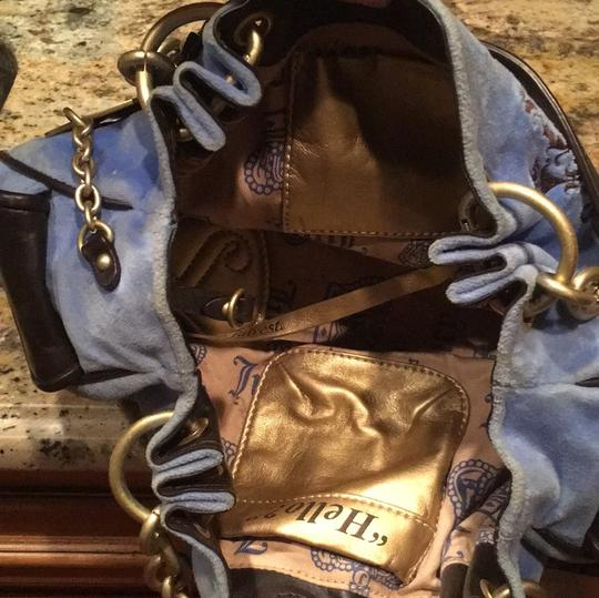 Juicy Couture Satchel in blue and black